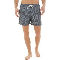 Onfire Mens Printed Swim Shorts Navy/Grey/White