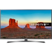 LG 49UK7550PLA LED HDR 4K Ultra HD Smart TV, 49 With Freeview Play/Freesat HD & Crescent Stand, Ultr