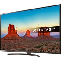 LG 55UK6400PLF LED HDR 4K Ultra HD Smart TV, 55 with Freeview Play/Freesat HD & Crescent Stand, Ultr