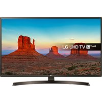 LG 49UK6400PLF LED HDR 4K Ultra HD Smart TV, 49 with Freeview Play/Freesat HD & Crescent Stand, Ultr