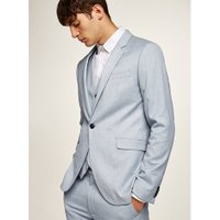 Mens Stone Light Blue Textured Skinny Suit Jacket, Stone
