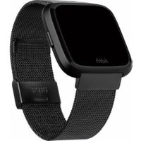 FITBIT Versa Stainless Steel Mesh Band - Black, Stainless Steel