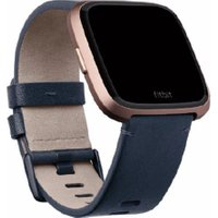 FITBIT Versa Leather Band - Blue, Large, Blue