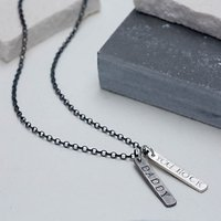 Chambers & Beau Personalised Men's Double Tag Necklace
