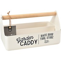 Burgon & Ball Enamel Garden Caddy, Cream