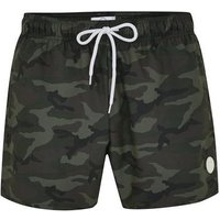 Mens Multi Camouflage Print Swim Shorts, Multi