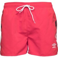 Umbro Mens Olympico Swim Shorts Hibiscus Red/Dark Navy/White