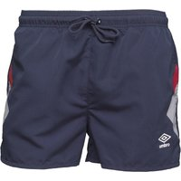 Umbro Mens Olympico Swim Shorts Dark Navy/Vermillion/White