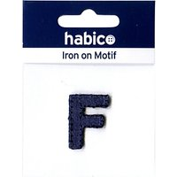 Habico Iron On Denim Letter Patch