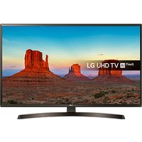 LG 43UK6400PLF LED HDR 4K Ultra HD Smart TV, 43 with Freeview Play/Freesat HD & Crescent Stand, Ultr