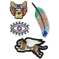 Mens Multi Tiger Eye Iron On Patches*, Multi