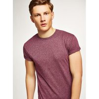 Mens Red Burgundy Fleck Muscle T-Shirt, Red