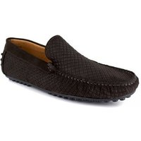 J.bradford  Loafer  Brown Leather JB-CLIPPER  men's Loafers / Casual Shoes in multicolour