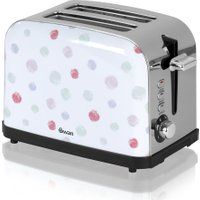 SWAN ST15020POLN 2-Slice Toaster - Polka Dot, Brown