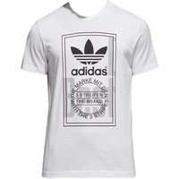adidas  Tongue Label  men's T shirt in White