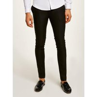 Mens Black Smart Spray On Trousers, Black