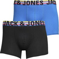 JACK AND JONES Mens Jared Two Pack Boxer Trunks Black