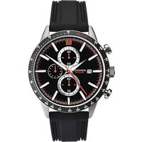Sekonda 1594.27 Men's Chronograph Date Rubber Strap Watch, Black
