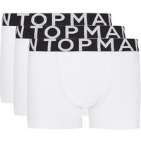 Mens White Trunks 3 Pack*, White