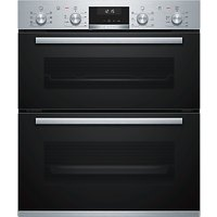 Bosch Serie 6 NBA5350S0B Built-Under Double Oven, Stainless Steel