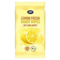 Boots Lemon Fresh Handy Wipes 12s