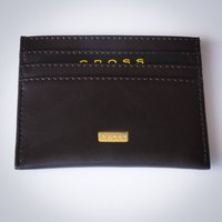 Cross Oak Brown Leather Credit Card Case