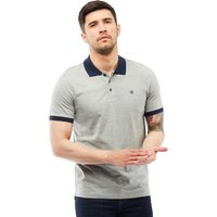 JACK AND JONES Mens Earl Polo Light Grey