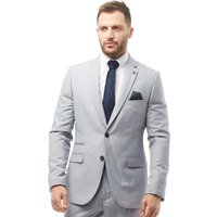 French Connection Mens Plain Ticket Pocket Blazer Light Grey