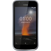 Nokia 1 Smartphone, Android, 4.5, 4G LTE, SIM Free, 8GB
