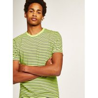 Mens Green Lime Slim Stripe T-Shirt, Green