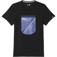 adidas  2016-2017 Real Madrid Graphic BET Tee  men's T shirt in Black