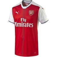 Puma  2016-17 Arsenal Home Shirt (Ozil 11) - Kids  men's T shirt in Red