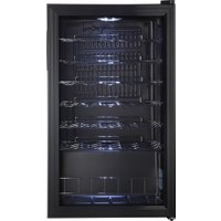 LOGIK LWC34B18 Wine Cooler - Black, Black