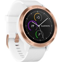 Garmin Vivoactive 3 GPS Smartwatch with Contactless Payment and HR, White/Rose Gold