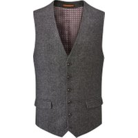 Men's Skopes Fox Wool Blend Suit Waistcoat, Charcoal