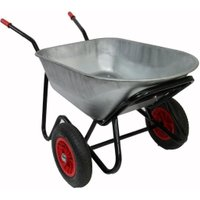 Bullbarrow Mammoth Duo wheelbarrow in silver, Silver