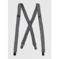 Mens Grey Skinny Braces, Grey