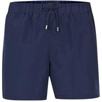 Mens Navy Embroidered Logo Swim Shorts, Navy