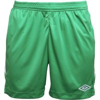 Umbro Mens Teamwear Match Poly Football Shorts Emerald/White
