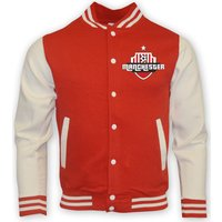 Gildan  Man Utd College Baseball Jacket - Kids  men's Sweatshirt in Red