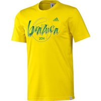 adidas  2014 World Cup Brazuca T-Shirt  men's T shirt in Yellow