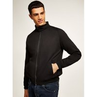 Mens Black Harrington Jacket, Black