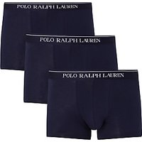Polo Ralph Lauren Stretch Cotton Trunks, Pack of 3, Navy