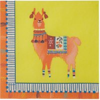 Talking Tables Boho Llama Cocktail Napkins Pack Of 20