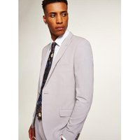 Mens Mid Grey Light Grey Spray On Blazer, Mid Grey