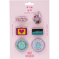 My Mood Pin Up Enamel Pins Fixed On You