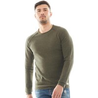 JACK AND JONES Mens Union Knitted Jumper Olive Night