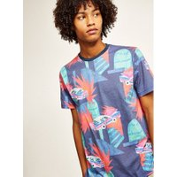 Mens Navy Cars Print T-Shirt, Navy