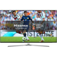 Hisense 65U7A ULED HDR 4K Ultra HD Smart TV, 65 with Freeview Play, Ultra HD Certified, Black/Silver