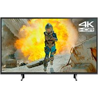 Panasonic TX-43FX650B LED HDR 4K Ultra HD Smart TV, 43 with Freeview Play, Black